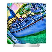 Colorful Sailboat Shower Curtain