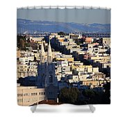 Colorful San Francisco Shower Curtain