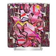 Colorful Scrap Metal Shower Curtain