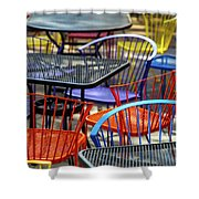 Colorful Seating Shower Curtain