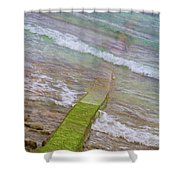 Colorful Seawall Shower Curtain