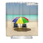 Colorful Shade Shower Curtain