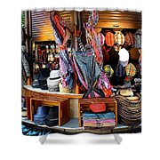 Colorful Shopping Shower Curtain