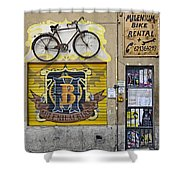 Colorful Signage In Palma Majorca Spain Shower Curtain