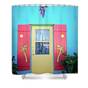 Colorful Signs Of The Tropics Shower Curtain