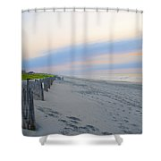 Colorful Skies On The Beach In Stone Harbor Shower Curtain
