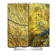 Colorful Slate Tile Abstract Composite H2 Shower Curtain