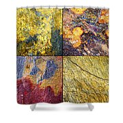 Colorful Slate Tile Abstract Composite Sq1 Shower Curtain