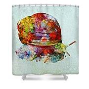 Colorful Snail Art  Shower Curtain