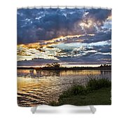 Colorful Snake River Shower Curtain