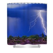 Colorful Sonoran Desert Storm Shower Curtain
