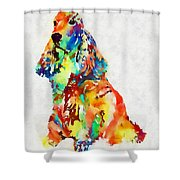 Colorful Spaniel Shower Curtain