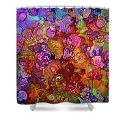 Colorful Spring Garden Shower Curtain