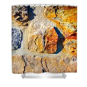 Colorful Stone Shower Curtain