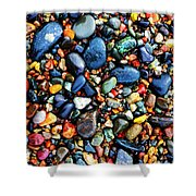 Colorful Stones I Shower Curtain