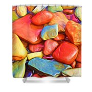 Colorful Stones Shower Curtain