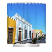 Colorful Street In Campeche, Mexico Shower Curtain