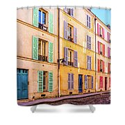 Colorful Street In Paris Shower Curtain