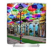 Colorful Street Shower Curtain