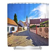 Colorful Street Of Baroque Town Varazdin View Shower Curtain