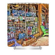 Colorful Streets Of The City Of Stuart Shower Curtain