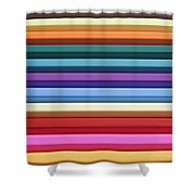Colorful Stripes 4 Shower Curtain