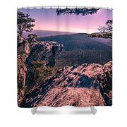 Colorful Sunset At Hanging Rock Shower Curtain