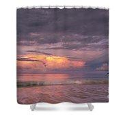 Colorful Sunset At Kailua Beach Shower Curtain by Charmian Vistaunet