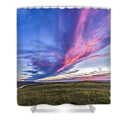 Colorful Sunset At The Reesor Ranch Shower Curtain