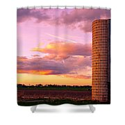 Colorful Sunset In The Country Shower Curtain