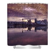 Colorful Sunset Over Portland Oregon Shower Curtain