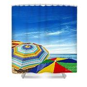 Colorful Sunshades Shower Curtain by Carlos Caetano