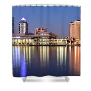 Colorful Tampa Panorama Shower Curtain
