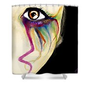 Colorful Tears Shower Curtain