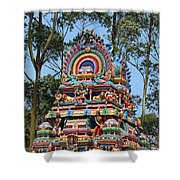 Colorful Temple, Valparai Shower Curtain