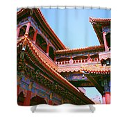 Colorful Temple Walkway Shower Curtain
