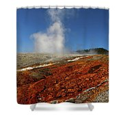 Colorful Thermal Area  Shower Curtain