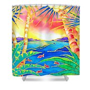 Colorful Tropics 12 Shower Curtain