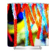 Colorful Tubes Shower Curtain
