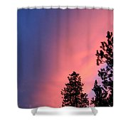Colorful Twilight Time Shower Curtain