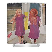 Colorful Twins Shower Curtain
