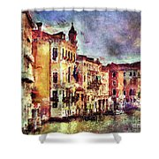Colorful Venice Canal Shower Curtain