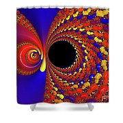 Colorful Vortex Shower Curtain