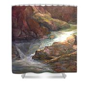 Colorful Water Flow Shower Curtain