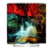 Colorful Waterfall Shower Curtain