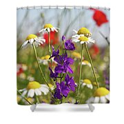 Colorful Wild Flowers Nature Scene Shower Curtain