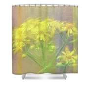 Colorful Wildflower Bouquet Shower Curtain