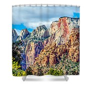 Colorful Zion Canyon National Park Utah Shower Curtain