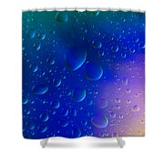 Colorfull Water Drop Background Abstract Shower Curtain