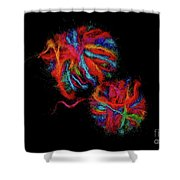 Colorfully Wound Shower Curtain